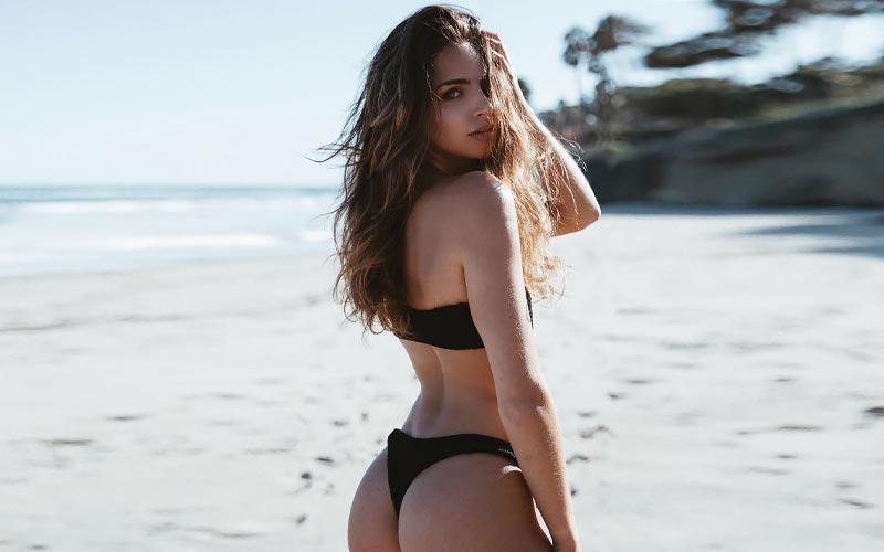 beautiful russian girl on beach