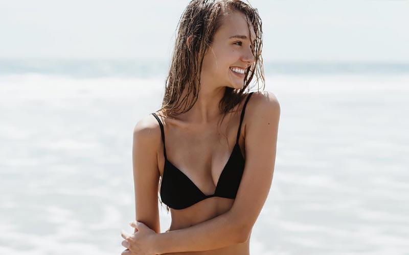 cute russian woman smiling