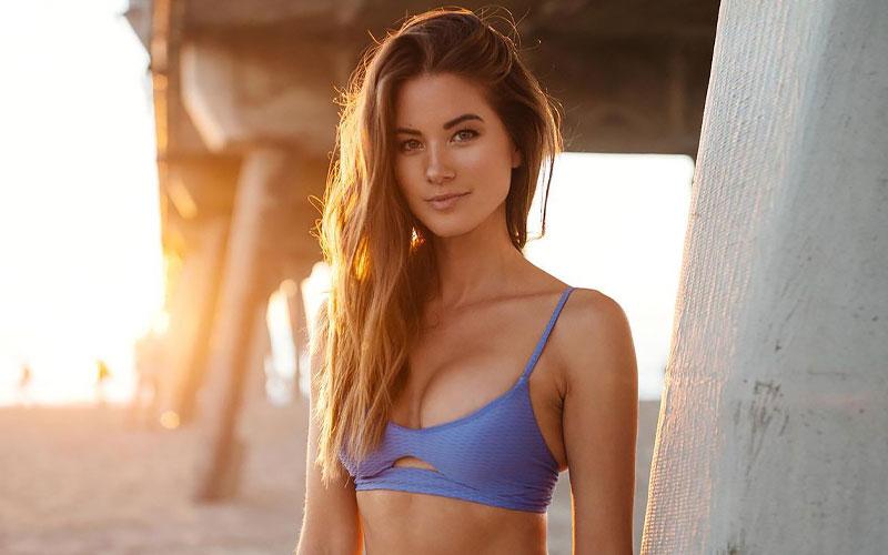 pretty polish woman on beach